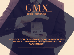 Modification or removal of a condition with respect to property transferred by the Government