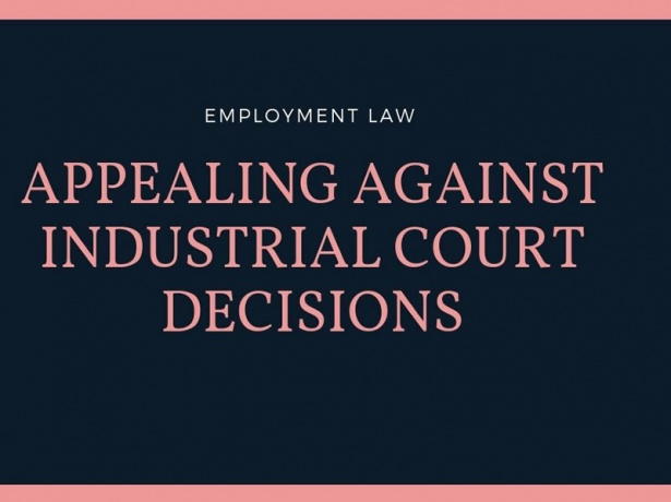 Appeal from a decision of the Industrial Tribunal must be on a point of law
