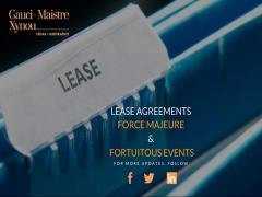 Lease agreements, force majeure and fortuitous events