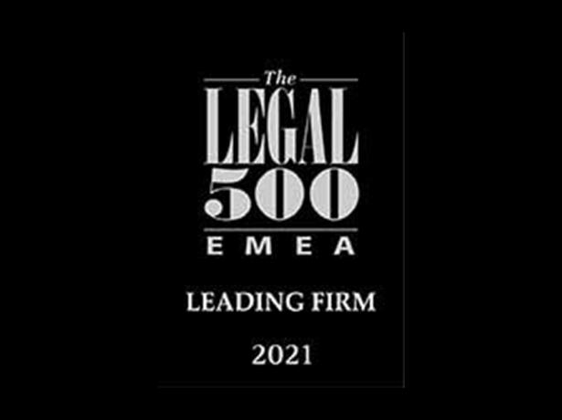 GVZH Advocates Ranks in the Legal 500 EMEA 2021